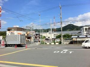 京都から帰還途中の風景