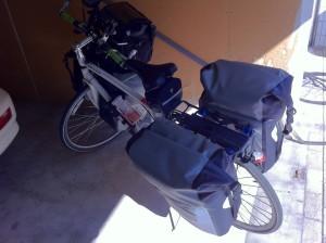 出発時の自転車