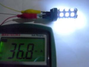 T20 LEDバルブ(5050 27 smd Wedge) 抵抗側通電時