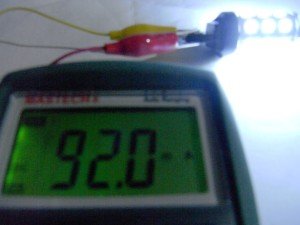 T20 LEDバルブ(5050 27 smd Wedge) 両端子通電時
