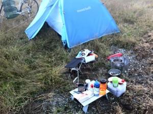 朝食風景(気比の浜キャンプ場)
