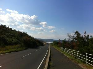 出雲海岸沿いの道その1