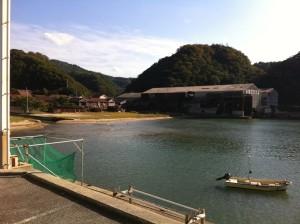 湾と昔の造船所(温泉津町)
