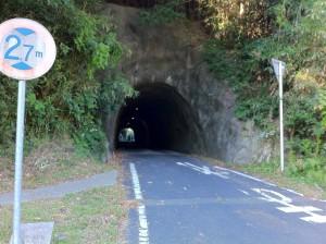 素掘り?のトンネル(温泉津町)