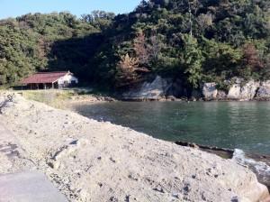 櫛島キャンプ場(海側からの眺め)