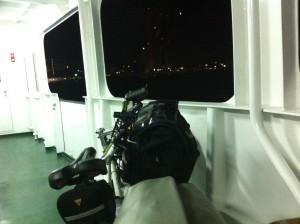 若戸渡船で対岸へ渡る
