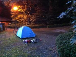 菖蒲谷池自然公園(翌朝の風景)