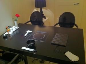 テーブルは完全個室