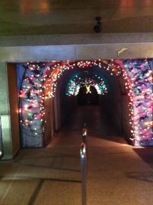 球泉洞の観光順路入口