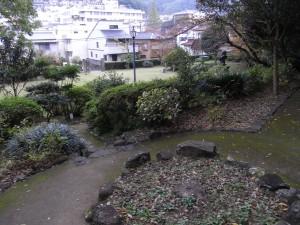 シーボルト邸跡(上側からの眺め)