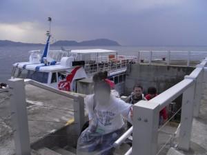 軍艦島の船着場