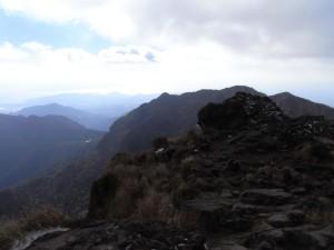 普賢岳からの山並み