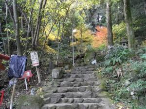 途中からかなり急な階段になります