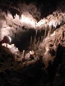 球泉洞 観光順路その5(探検コースの最後、この光景はもう一度見に行きたいです)