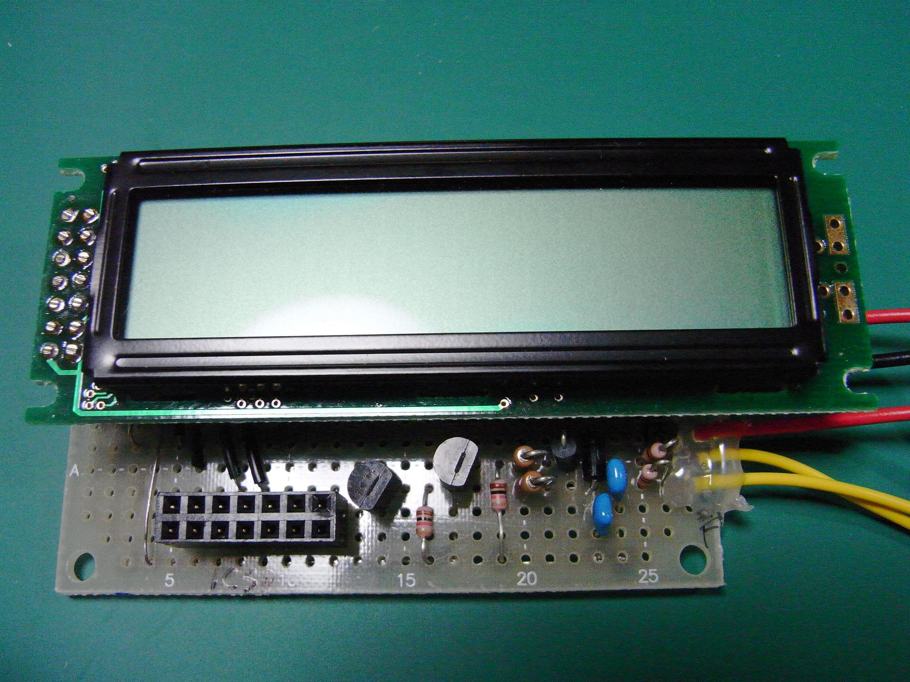 [カブ] タコメータの自作(PICマイコン+LCD)