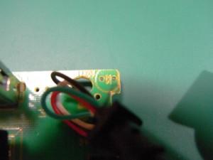 ランプ部のLED未実装
