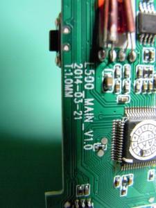 """ドライブレコーダ(メイン基板のシルク """"L500_MAIN_V1.0 2014-03-21""""とあります)"""