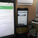 Androidタブレットをアームスタンドでサブディスプレイ化する