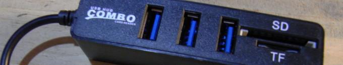 [レビュー] 安価な3ポートUSB-HUB(SDカードリーダ付き)